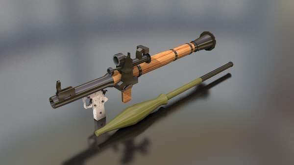 rpg-7 hand heavy weapon model