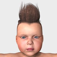 axel baby character animations 3D