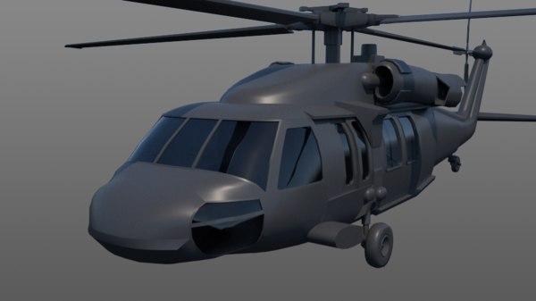 3D uh-60 black hawk