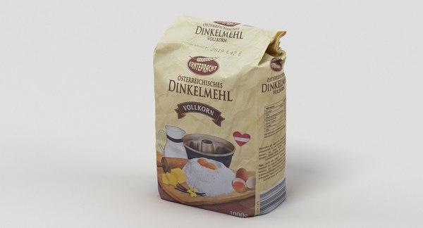 3D model bag flour
