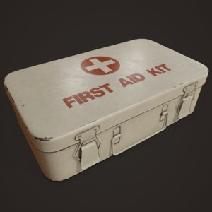 3D model vintage aid kit ready