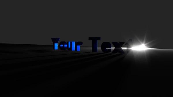 3D model custom text animation