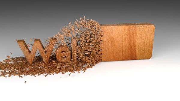wood chipping welcome text 3D model