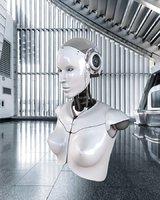 Artificial Intelligence AI robot head