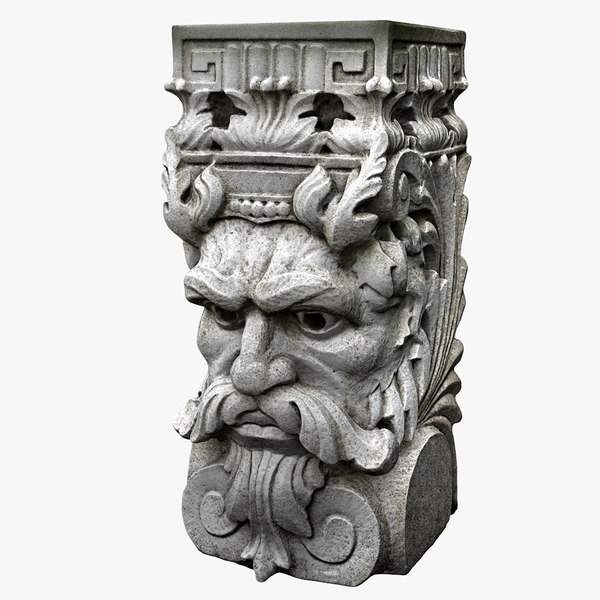 3D model faced plant stand