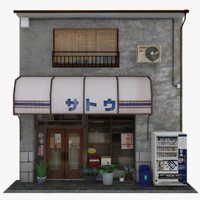 3D old tokyo store
