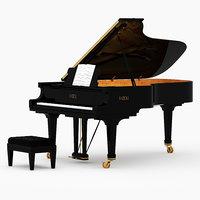 3D model grand piano fazioli