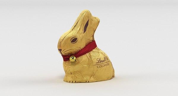 lindt bunny 002 3D model