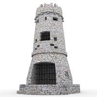 3D castle tower