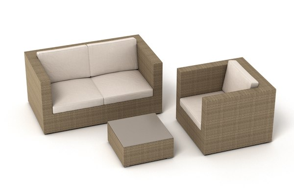 3D garden furniture set 002 model