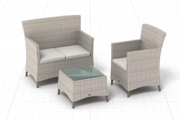 3D model garden furniture set 003