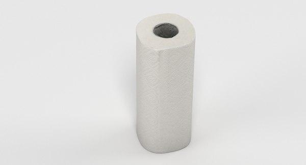 3D paper towel roll