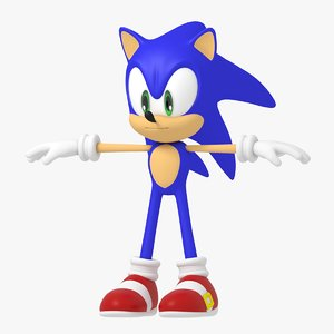 sonic hedgehog character 3D model