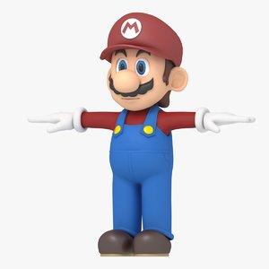 super mario character 3D model