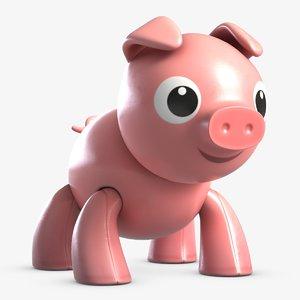 3D toy pig 2 model