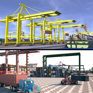 3D port sea