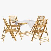 armchair table 3D