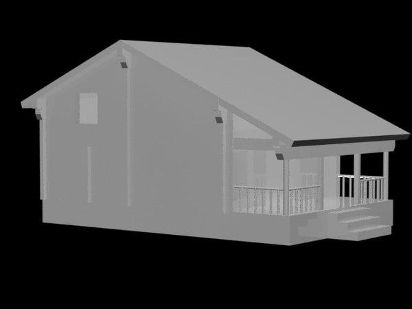 3D simple cabin model
