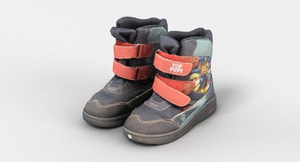 3D kids boots