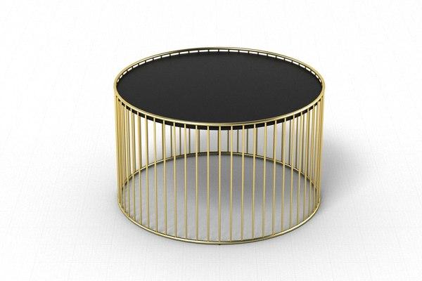 3D minotti caufield table