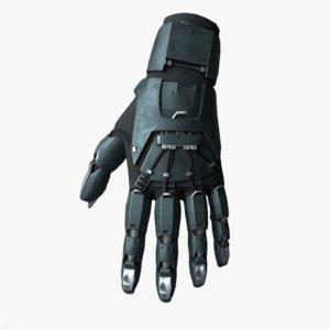 sci-fi glove 3D model