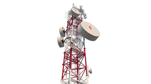 3D model tower antenna