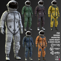 real space suit model