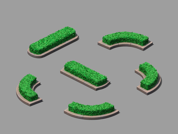 main city - flowerbed 3D