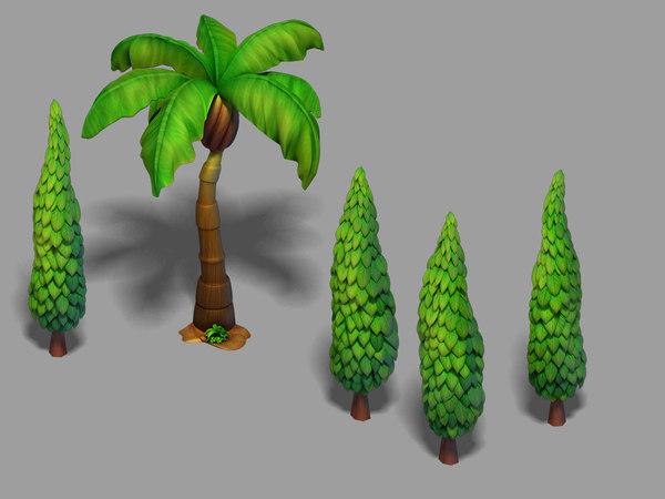3D main city - tree
