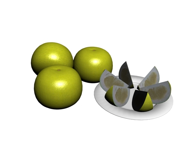 green lemon 3D model