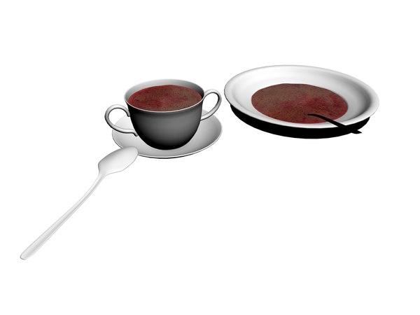 borscht soup 3D model