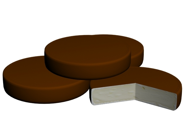 chocalate biscuit 3D