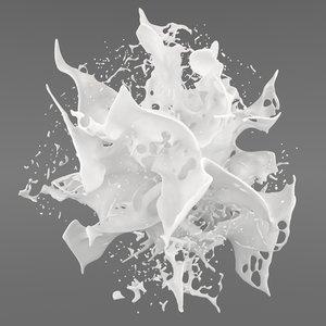 3D liquid splash realflow flow
