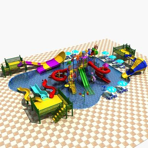 amusement park 20 3D model