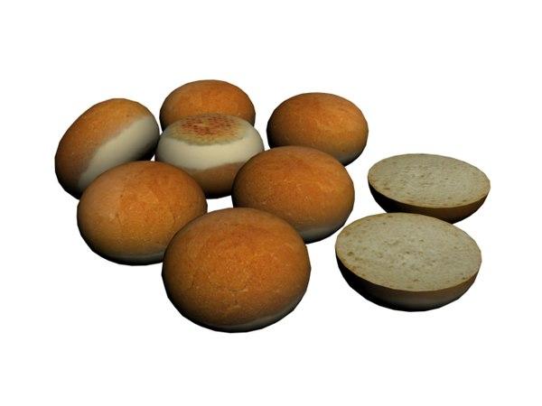 3D model burger bread