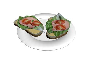 bread vegetable 3D
