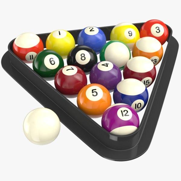 3D real billiard balls model