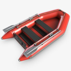 inflatable boat 1 3d model