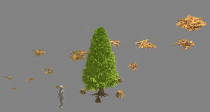 lumberyard - pine tree 3D model