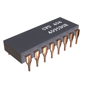 microchip quantum processor 3D model