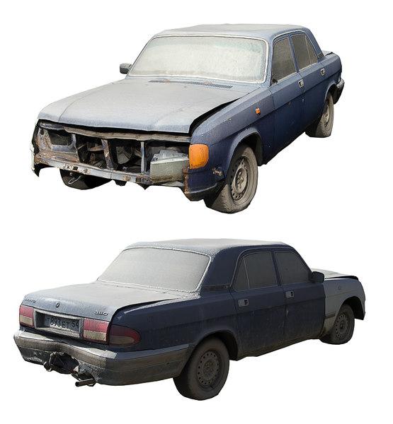 3D old soviet car volga