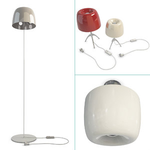 piccola lamps foscarini set 3D model