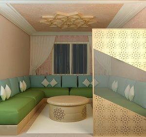 3D moroccan interior design
