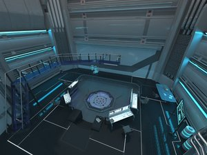 3D model laboratory sci-fi