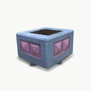 3D concrete pedestal02