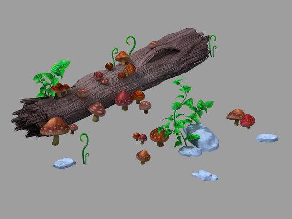 3D model fungi - weed 69