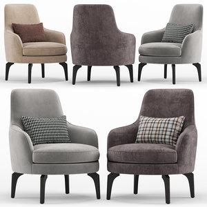 medea armchair - calligaris 3D