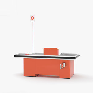 3D model check check-out counter