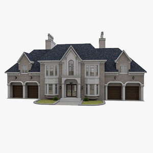 3D american victorian house
