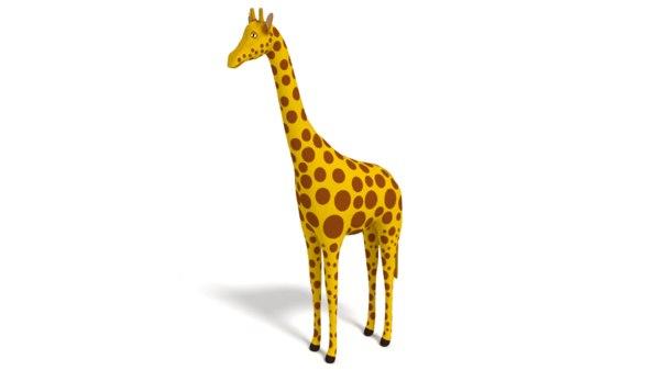 cartoon giraffe toon model